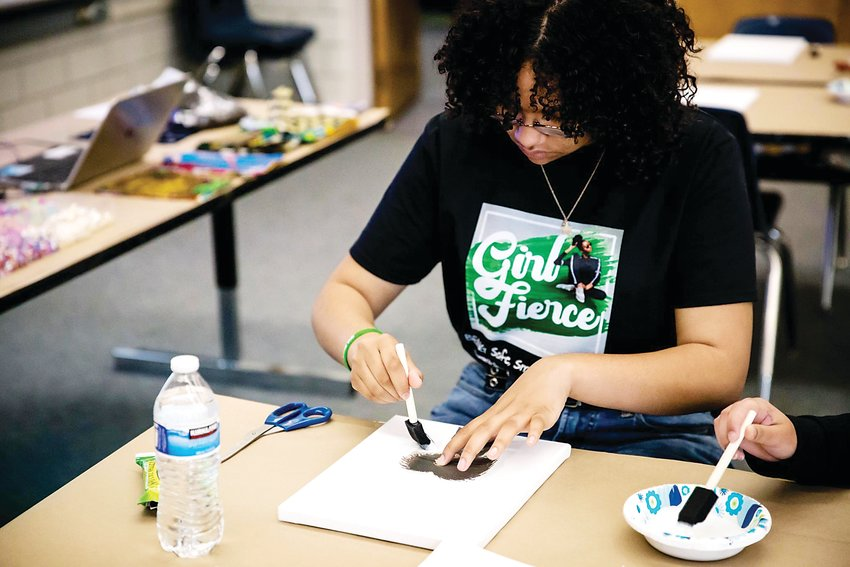 A youth works on a creative project during the 2019 Girl Fierce event. The 2021 event will take place virtually on April 24.