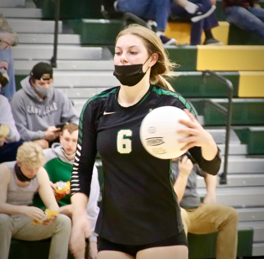 Mountain Vista senior Kelli Ell is only 5-foot-8 but stands tall as one of the spike leaders in the Continental League this season.