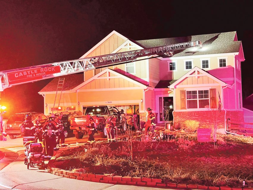 The Castle Rock Fire Department was called to a house fire in Plum Creek around 4:20 a.m. on March 29.