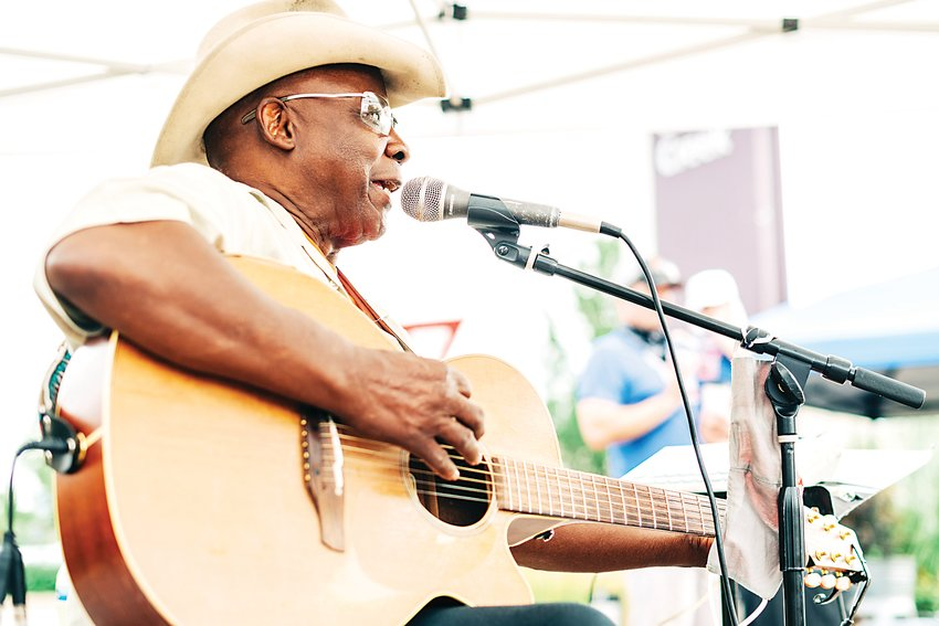 Rudy Grant performs at last year's Colorado Fresh Markets-Cherry Creek. Live entertainment is something people are especially looking forward to at this year's farmers markets.