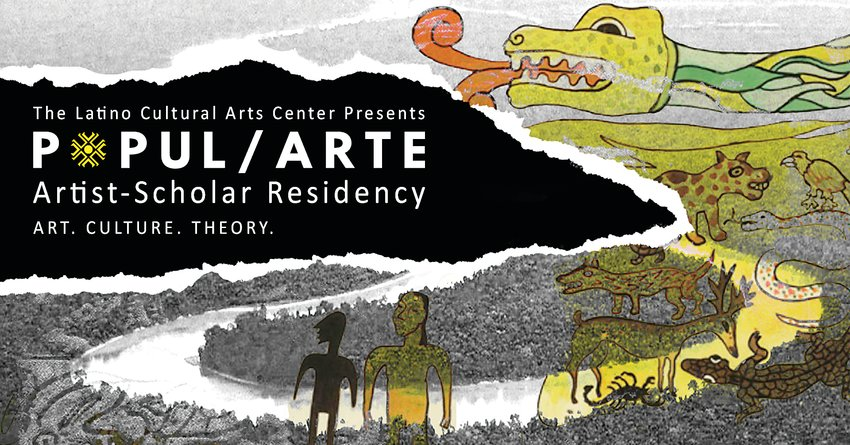 The Latino Cultural Arts Center's new program, Popul/Arte, will be a residence program that merges art and research. It will consist of lectures and art workshops presented virtually, and it's free for anyone who wishes to participate.