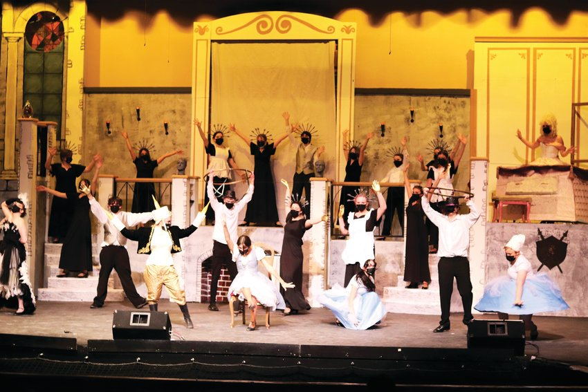 "The ""Be Our Guest"" dance from Golden High School's Beauty and the Beast."