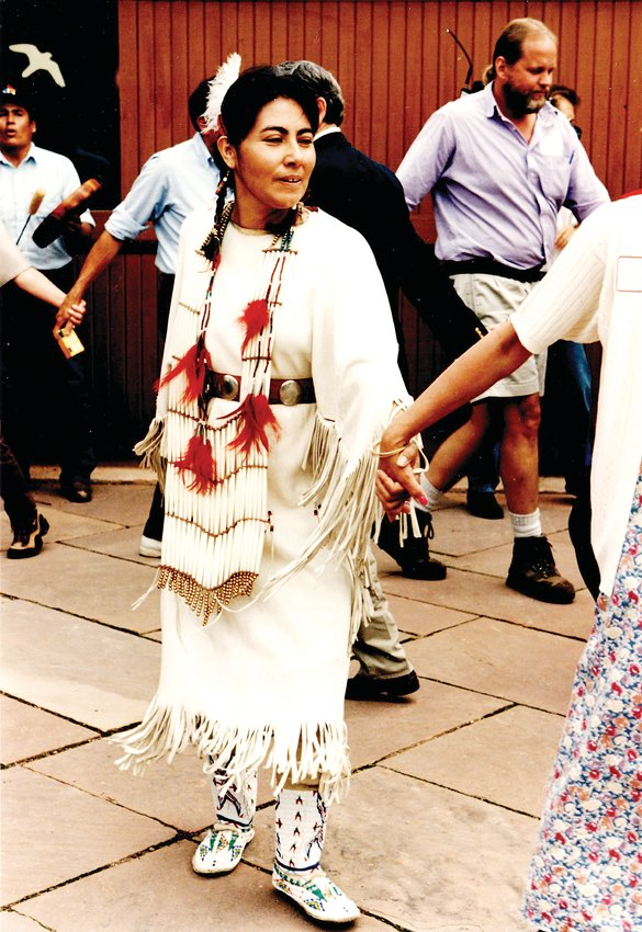 The ceremony dedicating the Southdowns land to Roxborough State Park concluded with a Native American Friendship Dance on May 31, 1996.