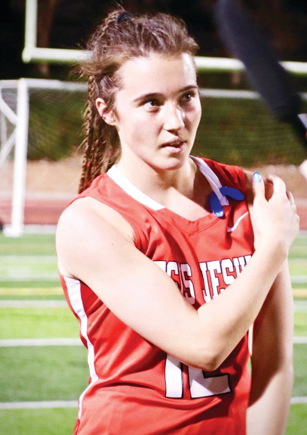 Regis Jesuit's Cate Lord scored the game winning goal in double overtime in a 2-1 victory over Cherry Creek in the state field hockey title game held April 29 at the Stutler Bowl. The Raiders have won two of the past three state titles.