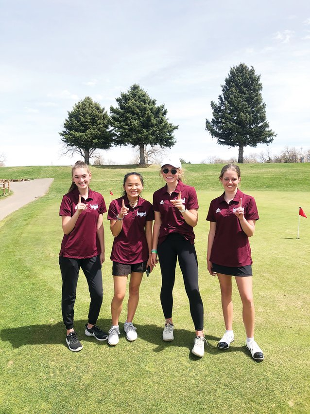 The Golden High School girls golf team won the first tournament of the season, held at the Applewood Golf Course on April 26.