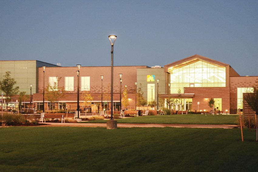 An early morning view of the new Northglenn Recreation Center on Sept. 22.