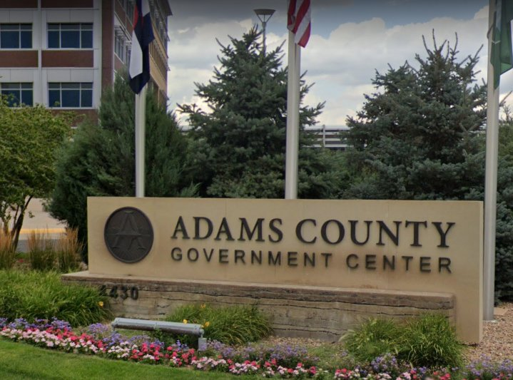 The Adams County Government Center sits at 4430 South Adams County Parkway near 124th Avenue and Sable Boulevard in Brighton.
