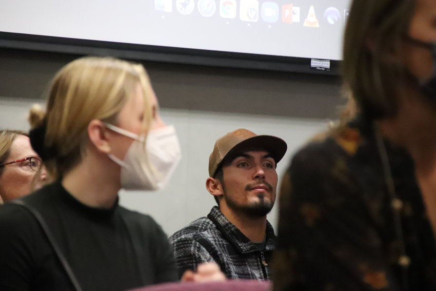 Mask use was mixed at the Oct. 26 Douglas County School Board meeting, where people gave public comment for hours about COVID-19 policies in the district.