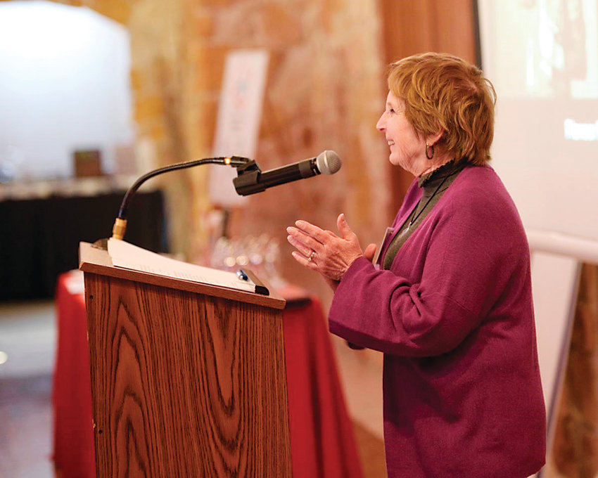 Golden Mayor Marjorie Sloan addresses the couple hundred attendees of the 2018 Jeffco International Women's Day. This year, the event takes place from 8:45 a.m. to 1:15 p.m. March 8 at Baldoria on the Water, 146 Van Gordon St., in Lakewood.