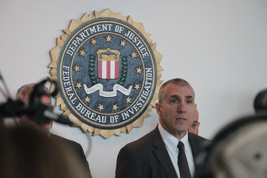 FBI Special Agent Dean Phillips addresses reporters during a news conference at the agency's Denver headquarters on April 17. A Florida woman whose behavior spurred a massive shutdown of Denver-area schools appears to have died by suicide, Phillips said.
