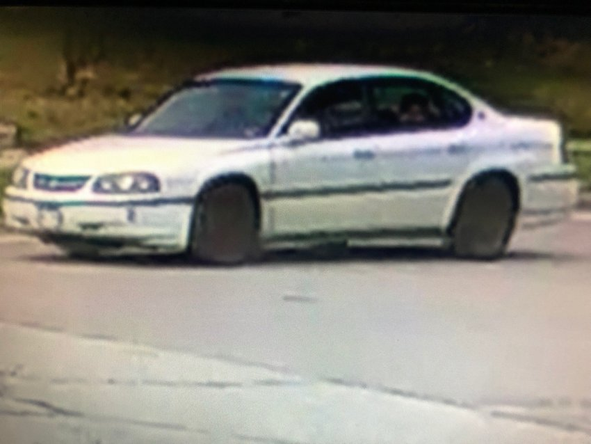 A white vehicle that police believe may be connected to the shooting. The public is asked to call 303-761-7410 if you have any information about the vehicle or the suspects. Photo provided by the Englewood Police Department.