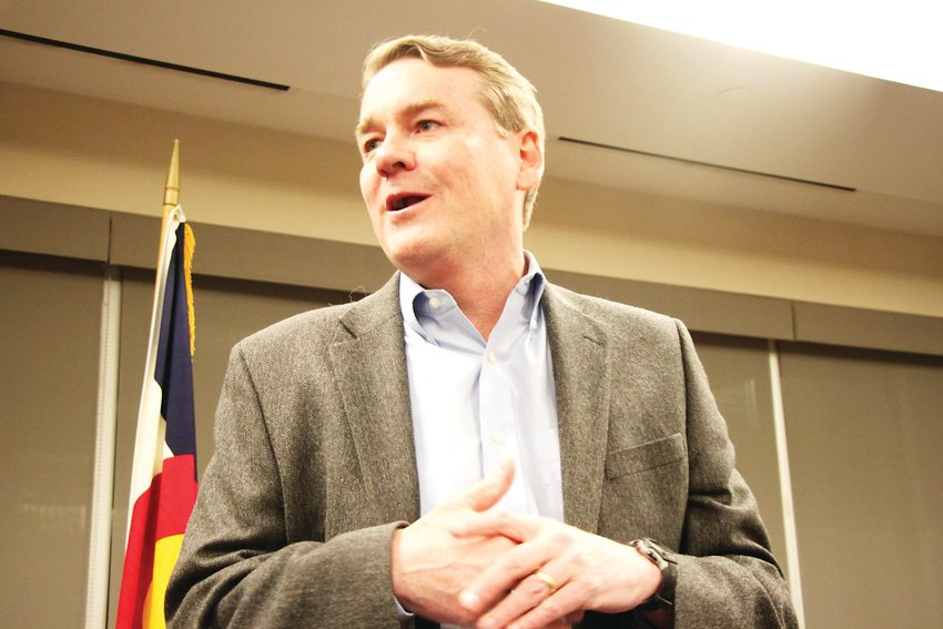 Senator Michael Bennet called defeating President Trump in the fall election a vital task.