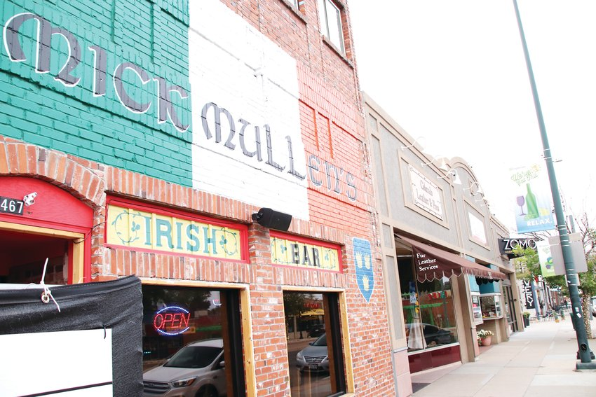 Mick Mullen's Irish Bar on Oct. 1 along the South Broadway downtown Englewood corridor. The bar sits in a row of restaurants, other bars and eclectic shops along both sides of Broadway.