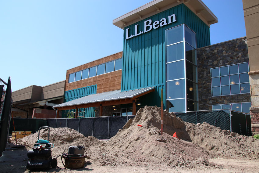 The site of a future Shake Shack at the Park Meadows mall food hall is under construction and will feature a patio.