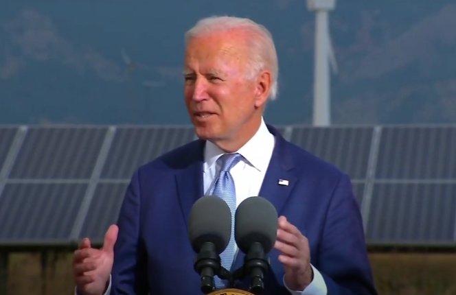 President Joe Biden speaks on Tuesday in Jefferson County.