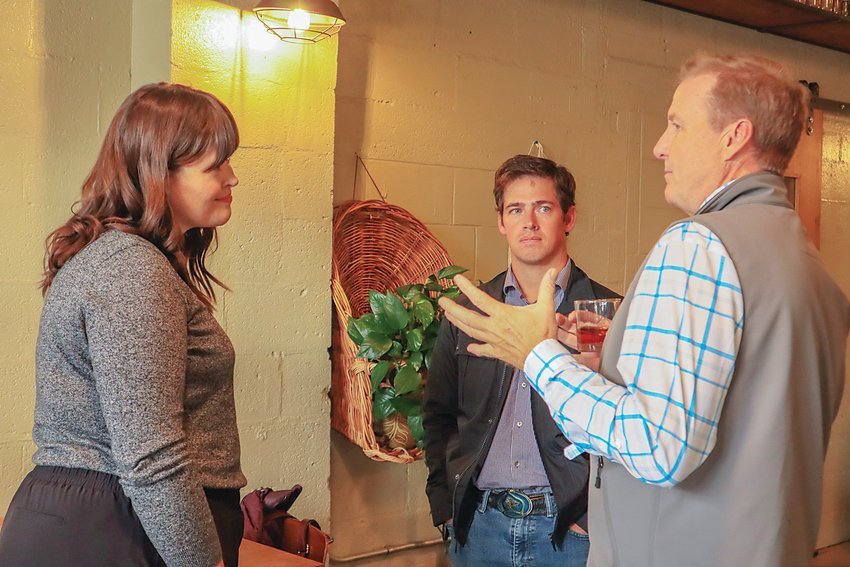 Chelsea Nunnenkamp, left, running for election in District 2, speaks with voters during a candidate meet and greet on Oct. 14.