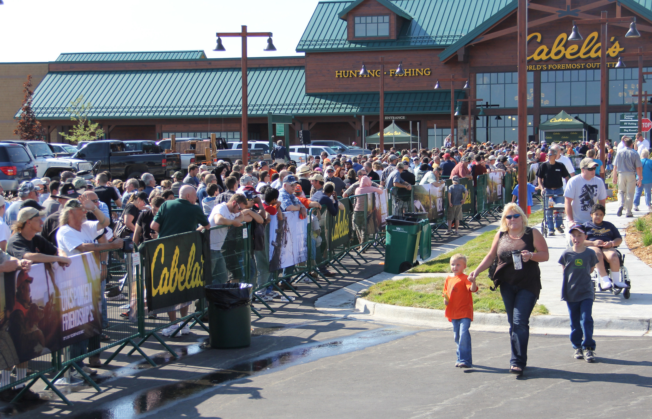 Thousands of people waited in line the morning of Aug. 15, in anticipation of Cabela's opening its doors.