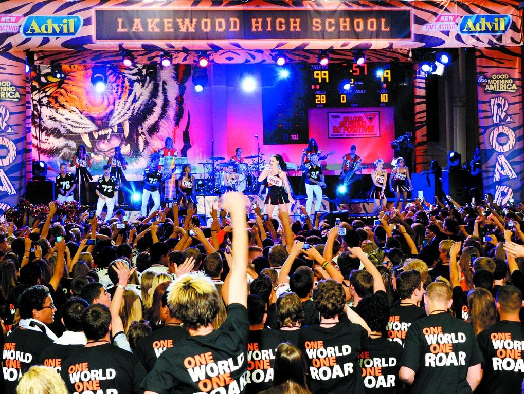 Pop star Katy Perry played at Lakewood High School in October. The concert was broadcast on Good Morning America.