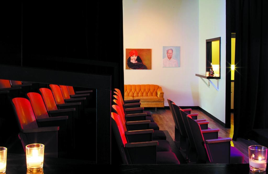 The inviting interior of the new Actasana neighborhood theater awaits audiences and drama students. Courtesy photo