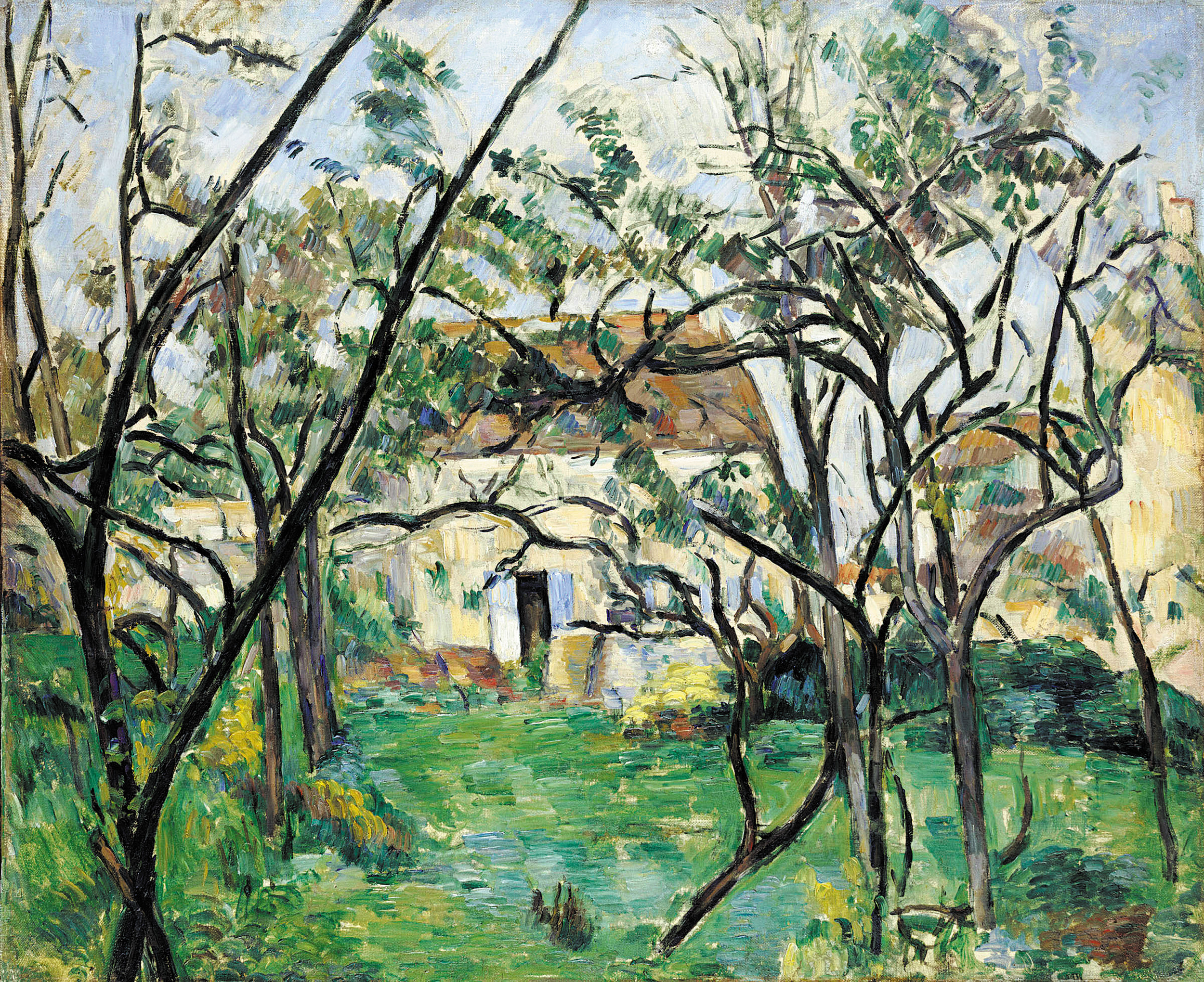 """House in the Country"" Paul Cezanne, 1877-1879, oil on canvas. Loaned by the Wadsworth Atheneum. Courtesy photo"