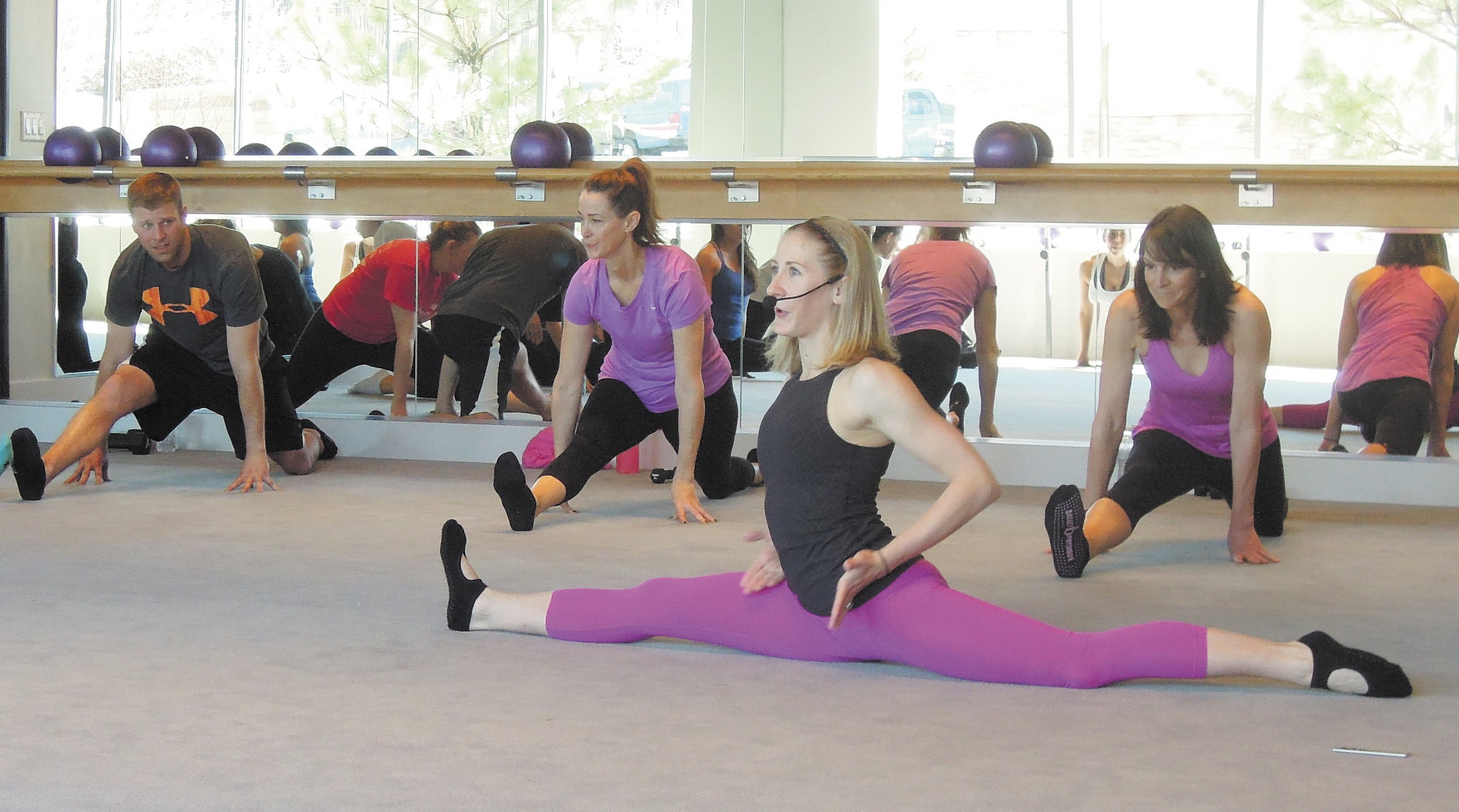 Ballet Physique founder Kristen Zurek leads a class at the new Lone Tree studio on March 8.