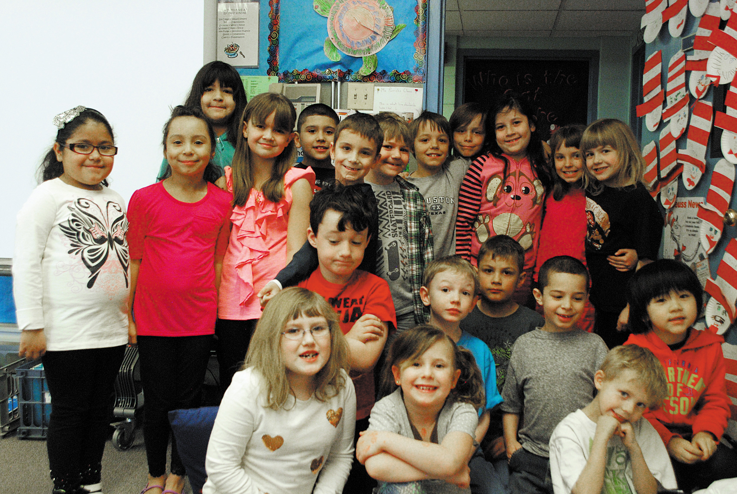 Mrs. Parrish's second-grade class at Pleasant View Elementary.