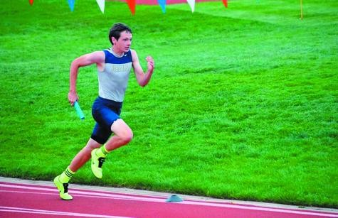Palmer Ridge sophomore Caleb Ojennes is among the top track stars for Palmer Ridge. His speed and football catching ability is what caught the eye of scouts who recruited him to play in a series of football games in Australia in July.