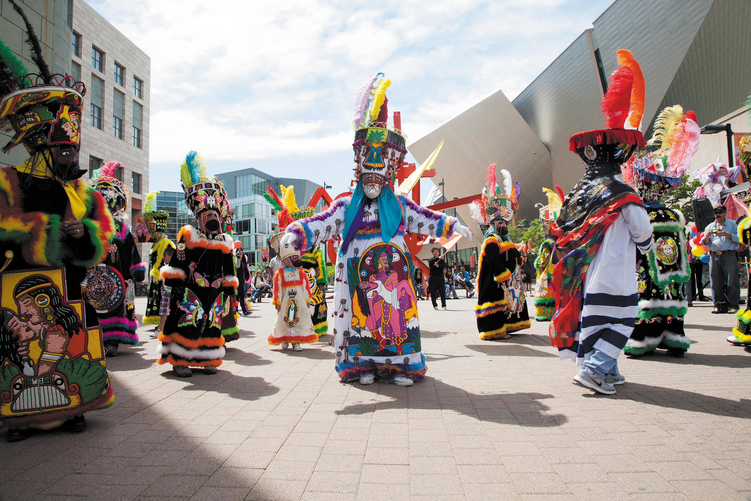 El Dia del Nino (Day of the Child) dancers will perform on Acoma Plaza, by the Denver Art Museum, in an event scheduled for 12 to 4 p.m. April 27.