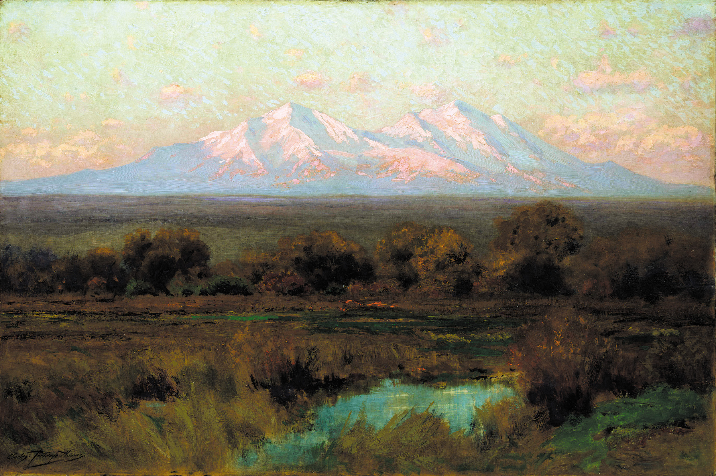 "Sunrise in Autumn On Spanish Peaks"" by Charles Partridge Adams is included in ""Art Survey IX"" at Kirkland Museum of Fine and Decorative Art. Courtesy photo"