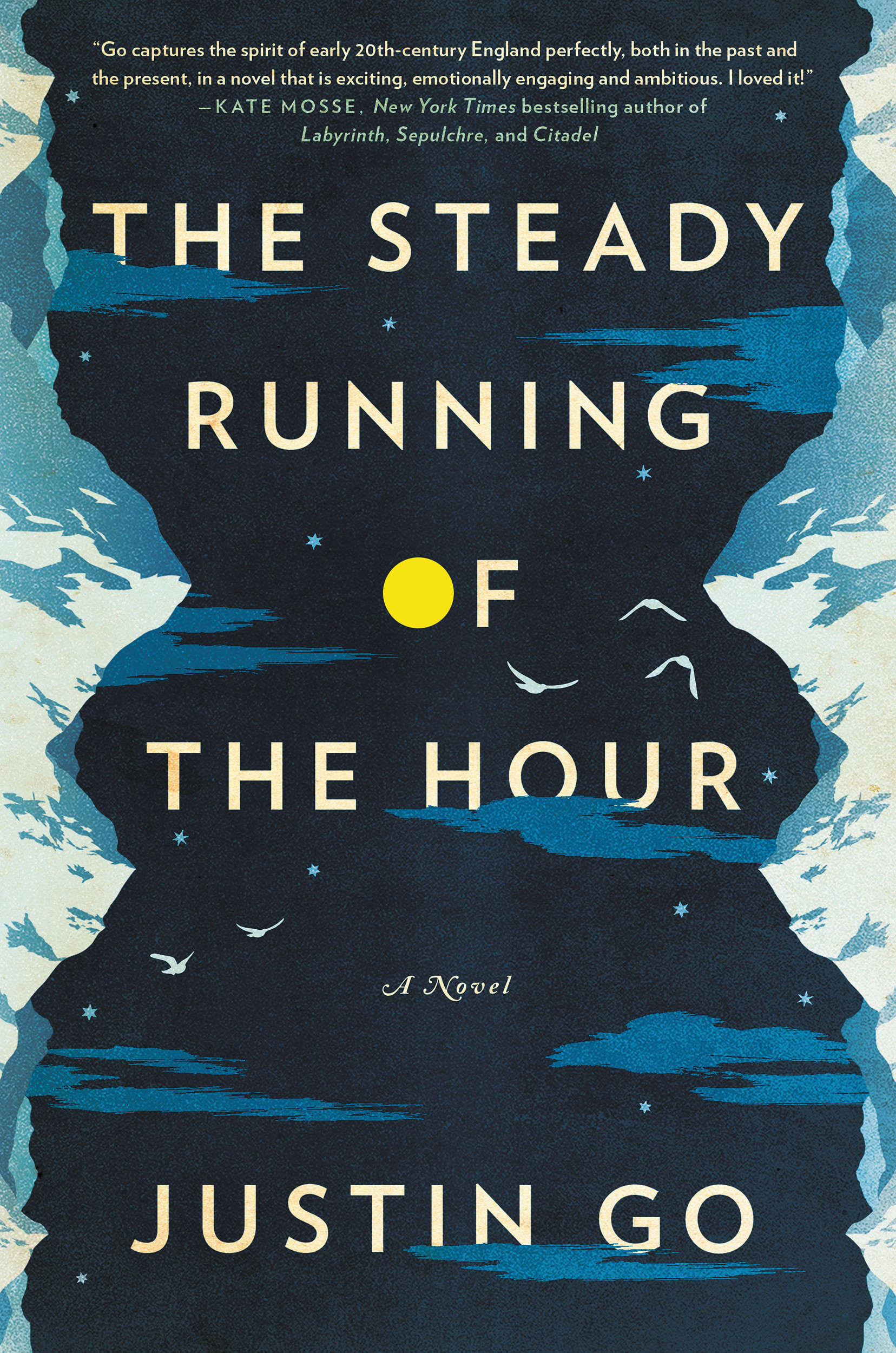 "Justin Go's wonderfully plotted debut novel, ""Steady  Running of the Hour"" will be introduced at Tattered Cover/Colfax on May 15."