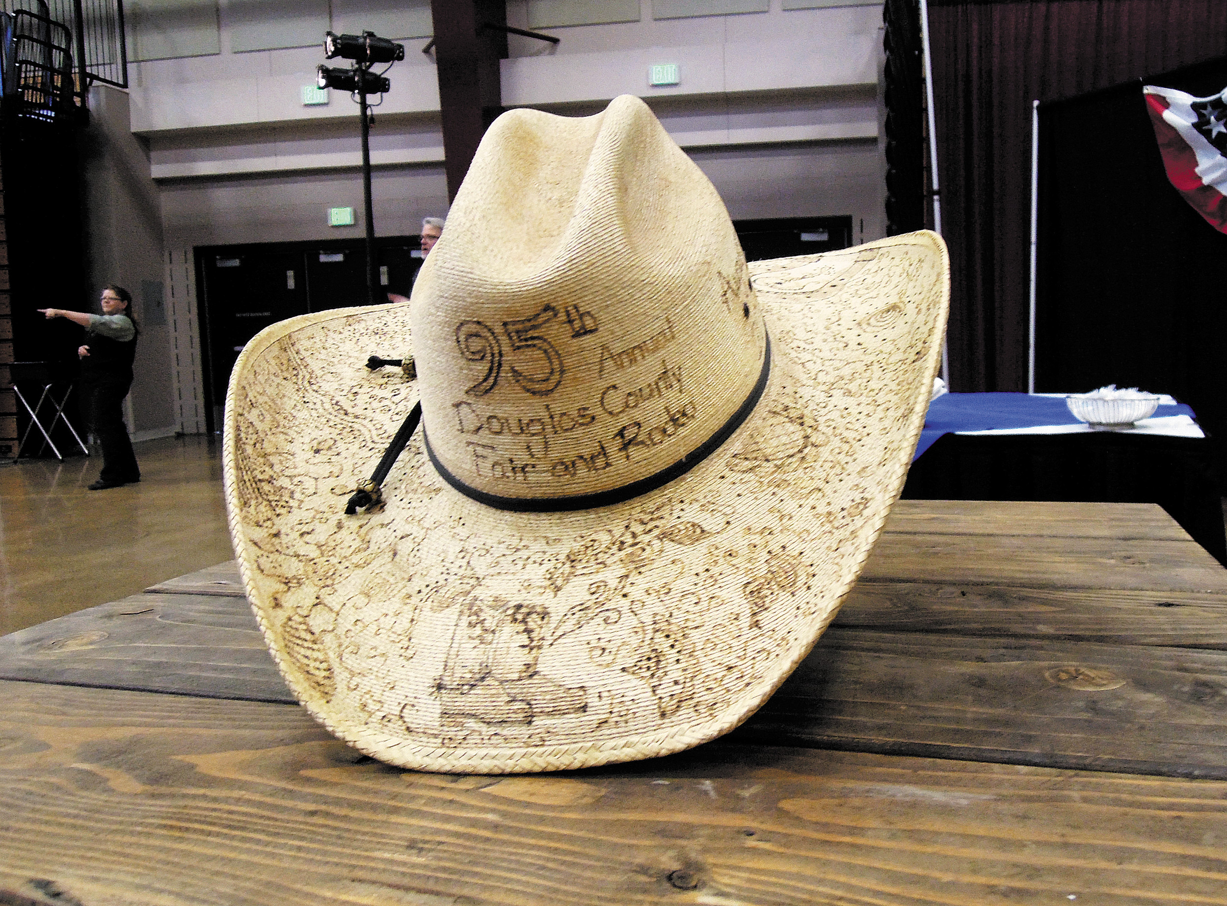 Items were auctioned off at the inagural Cowboy Ball May 6 to raise money for the Douglas County Fair Foundation.