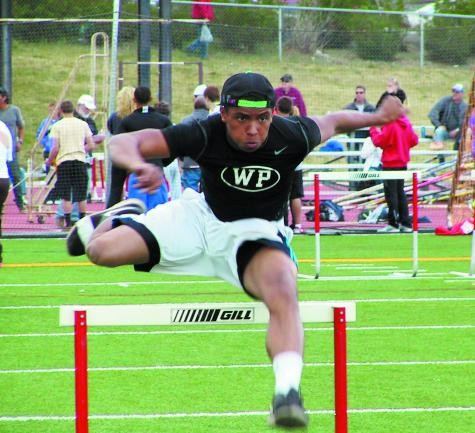 Woodland Park senior Jonathan Hinton qualified for the Class 4A state track meet in the 110 hurdles.
