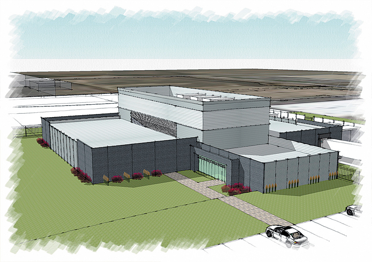 An artist's rendering of the new data center OneNeck IT Solutions is building in Douglas County.