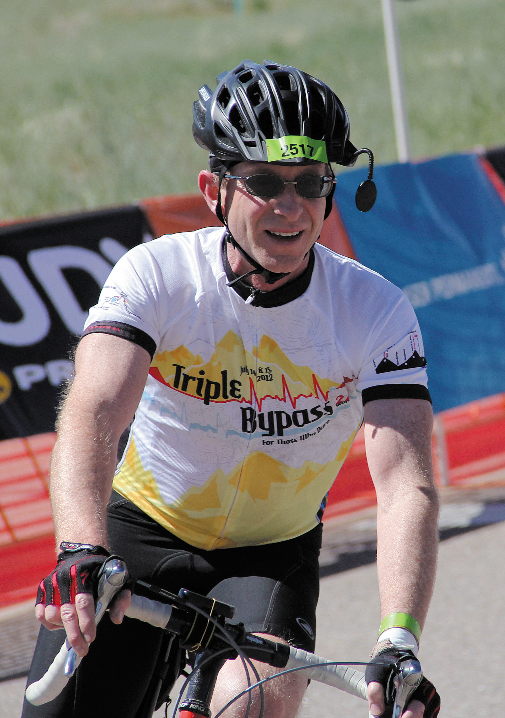 Tom Walton of Colorado Springs cruises to the finish line of last year's 62-mile Elephant Rock ride. The 27th annual Elephant Rock Cycling Festival will start and finish June 1 at the Douglas County Fairgrounds in Castle Rock.