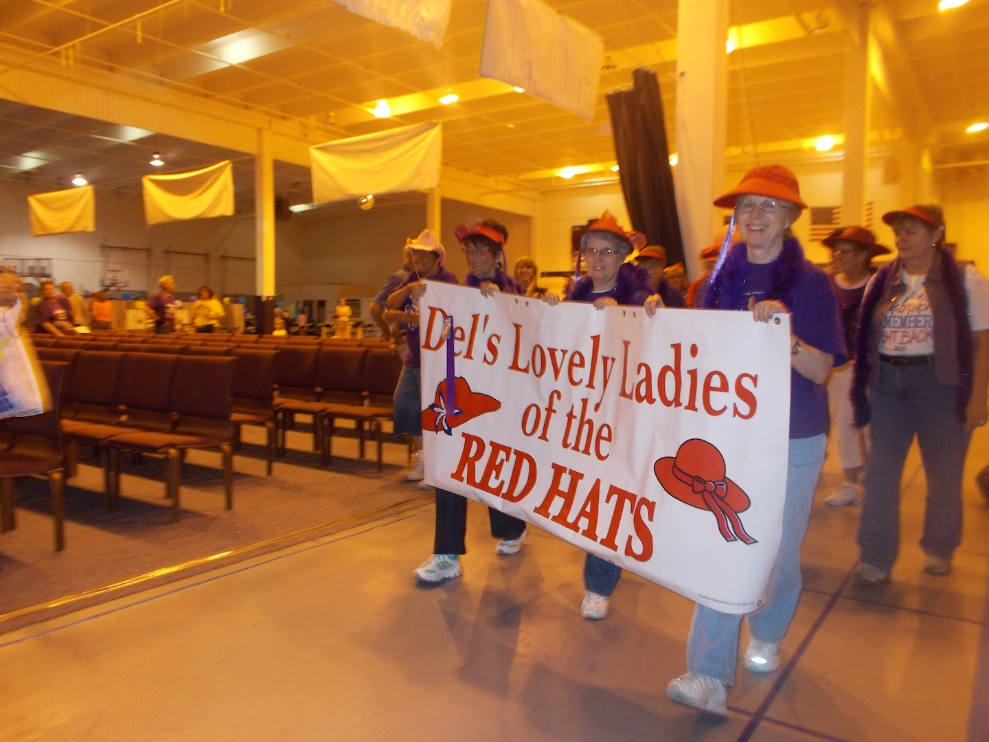 Del's Lovely Ladies of the Red Hats are typically the top fundraising team at almost every Relay for Life of Teller County event. In recent years they and other teams have walked around an indoor track but this year Relay is moving outdoors. It