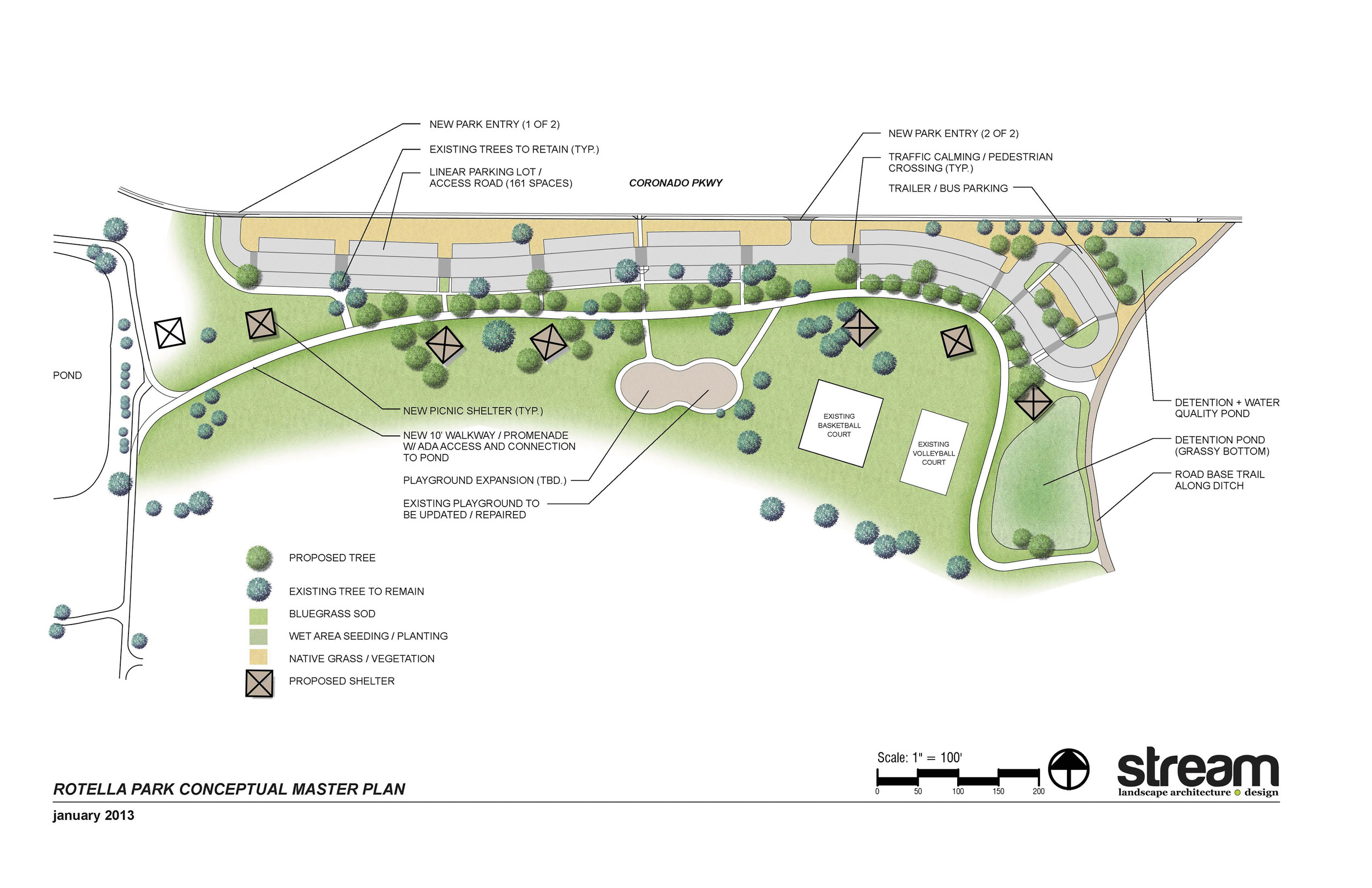 A rendering of the improvements planned for Rotella Park, located in the Welby community. Courtesy photo from Adams County