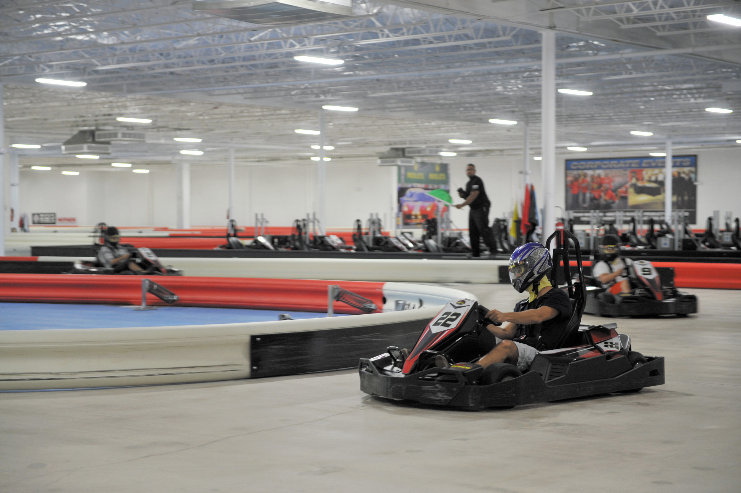 Go-kart racing is a craze that's catching on in the United States, and the south-metro area is along for the ride. These racers are at a K1 Speed, slated to open soon in Highlands Ranch.