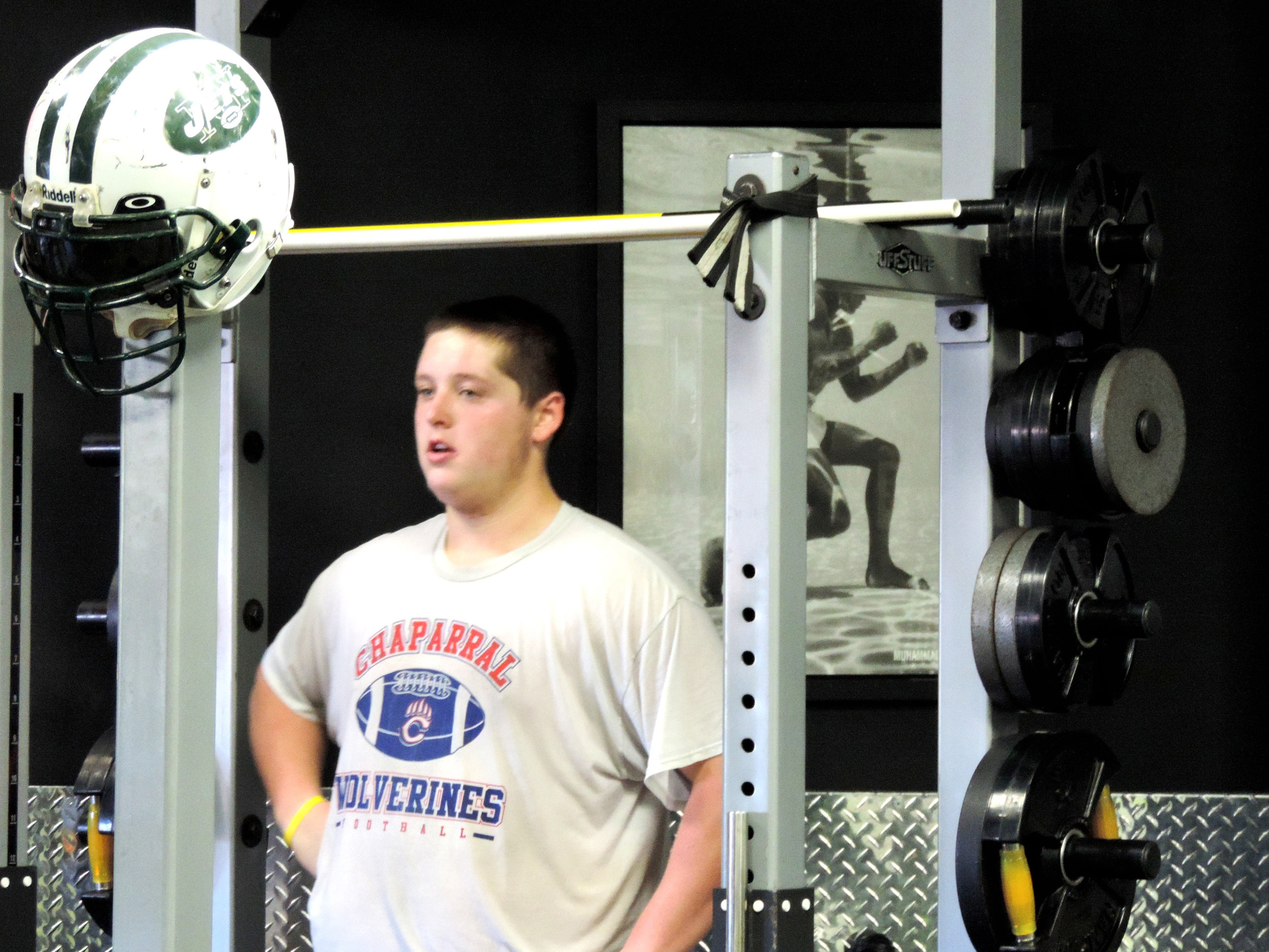 Chaparral lineman Brandon Leahey was at Six Zero Training and Fitness in Centennial for a workout last week.