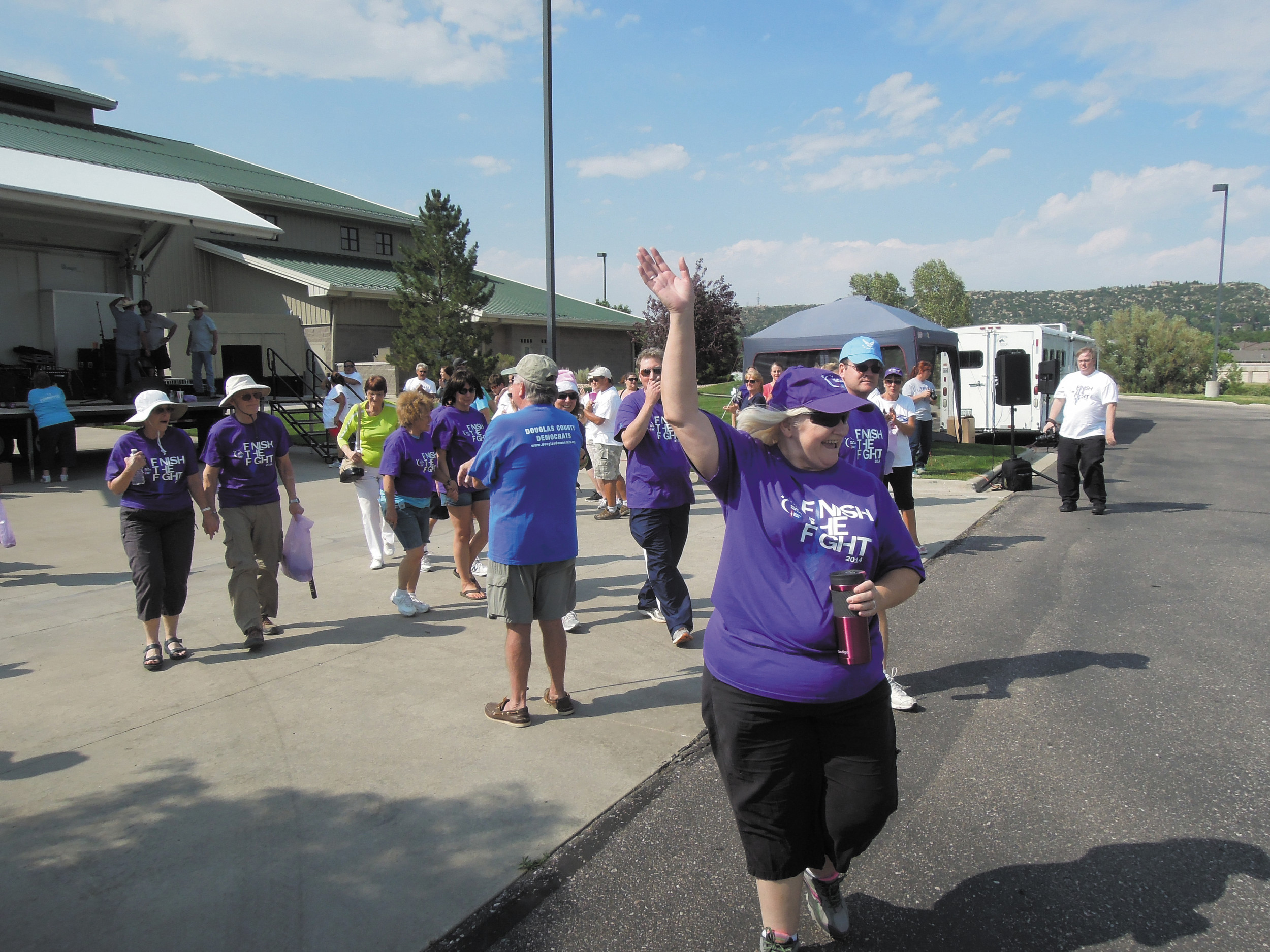 The July 19 Castle Rock Relay for Life begins with the Survivors Lap.
