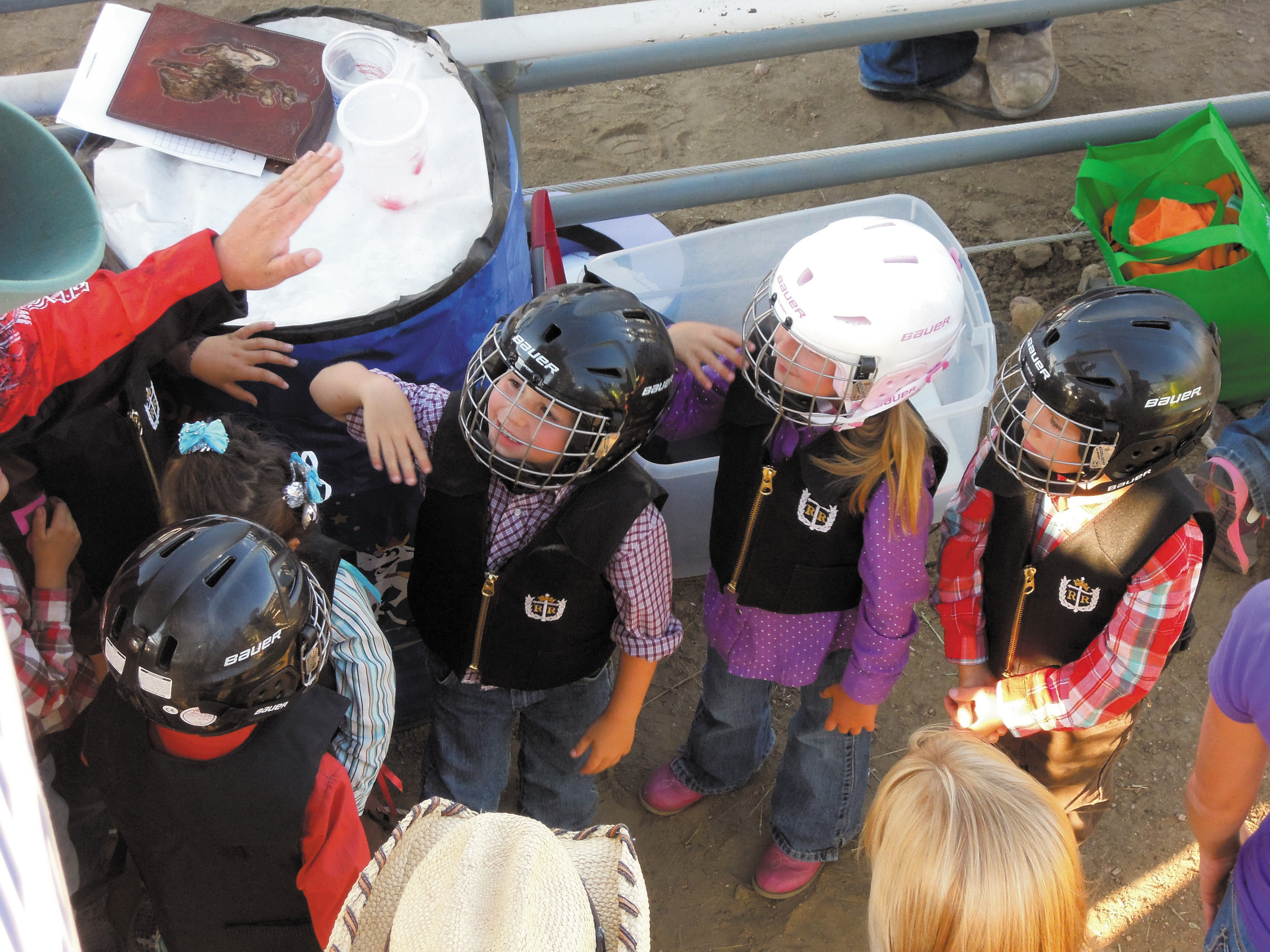 Children get ready for the annual United Power Mutton Bustin event at the Budweiser CPRA Rodeo during the 2013 Adams County Fair. This year, fair representatives will hold the official 110th Anniversary celebration during the rodeo at 7 p.m. Thursday, July 31. Photo by Ashley Reimers