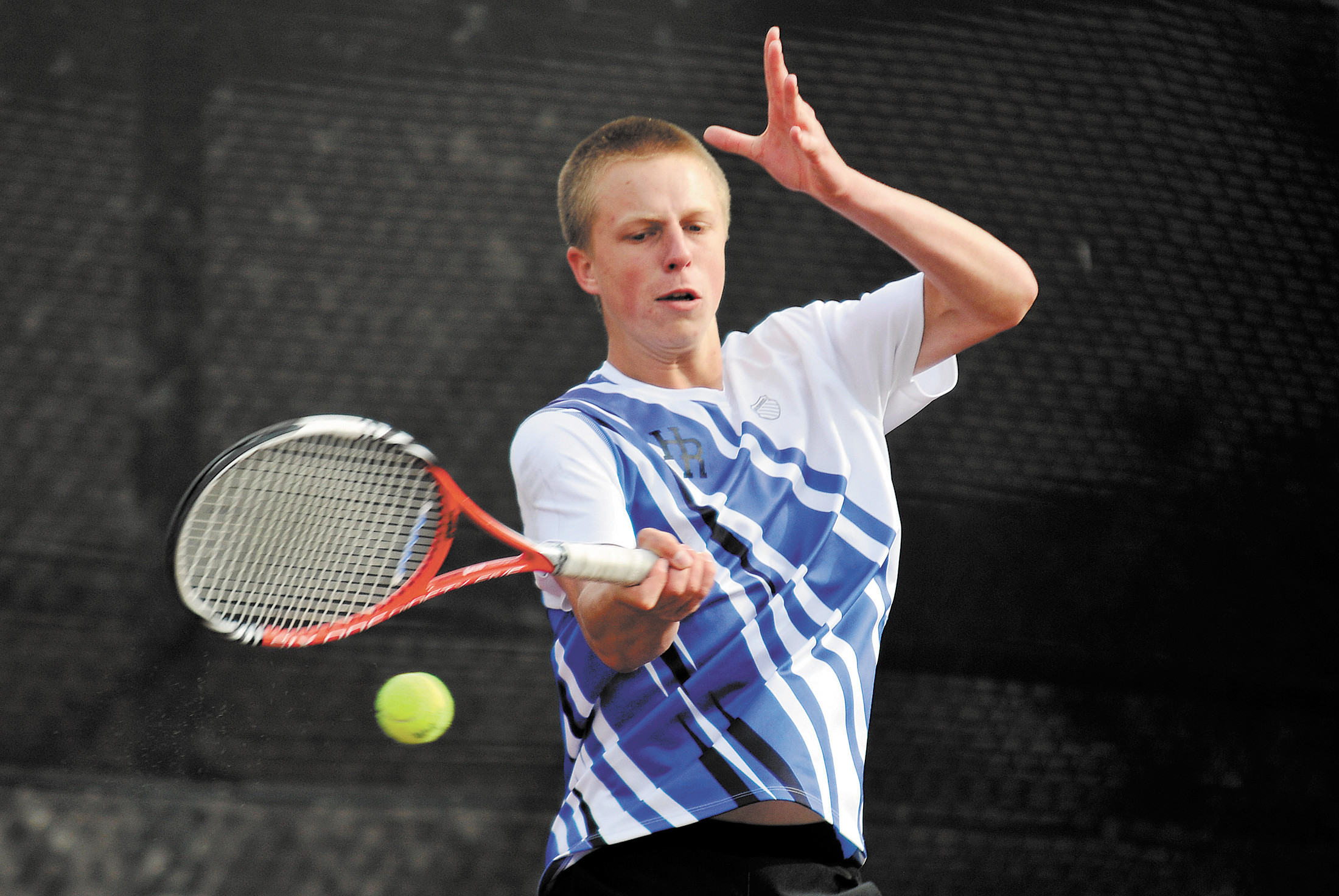 Former Highlands Ranch High School tennis standout Hayden Sabatka won a pair of state titles for the Falcons at No. 1 singles. He has been adjusting to the college game at the University of New Mexico, where he competes at No. 2 singles and was named the 2014 Male Freshman of the Year in the Mountain West Conference.
