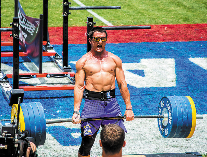 Chris Dozois of Castle Rock competes in the mens deadlift at the Reebok CrossFit Games in California. Dozois was one of seven members of Highlands Ranch's Backcountry CrossFit that competed in the world championship competition.