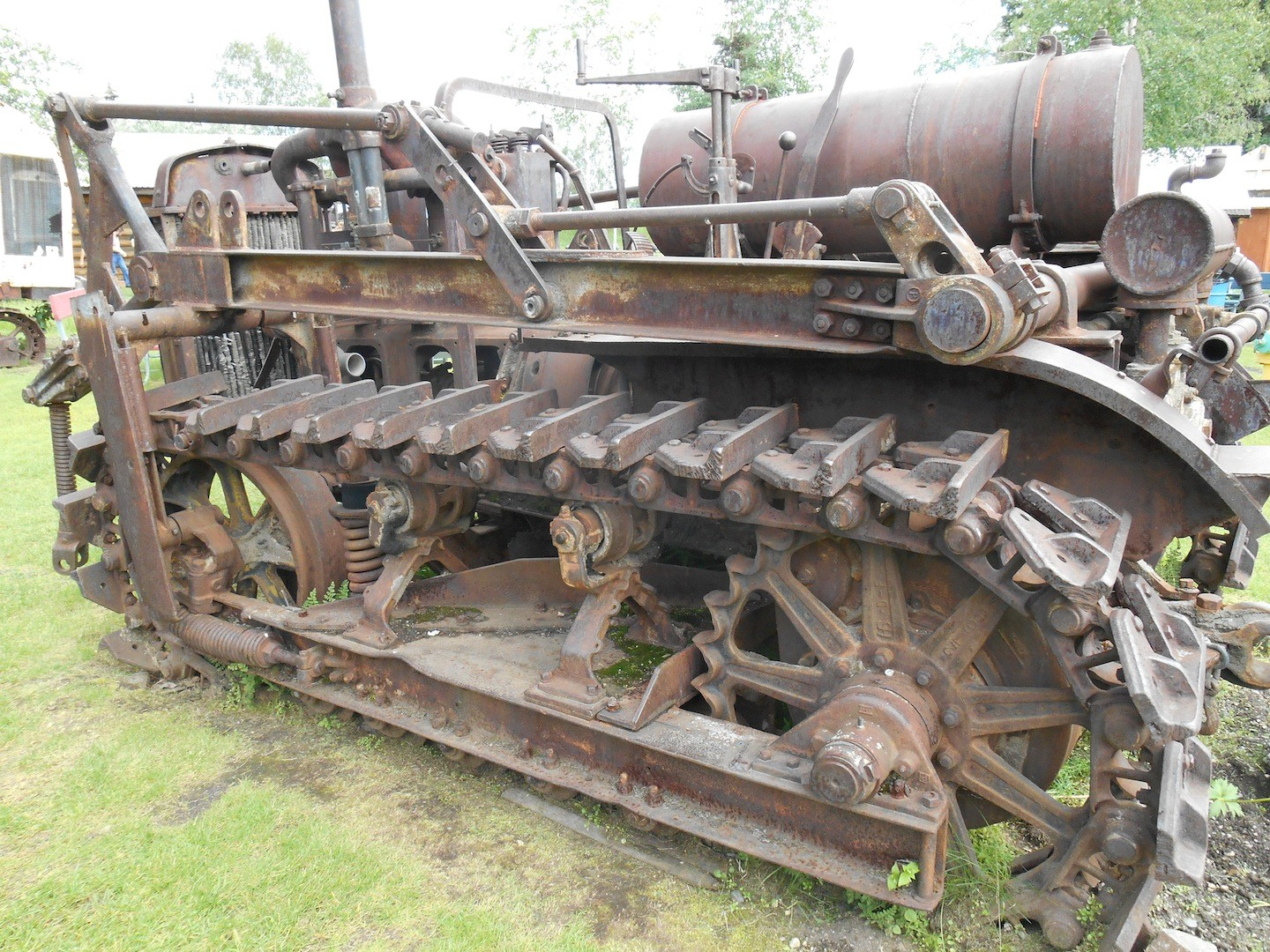 Some equipment had to be driven overland through the Alaskan bush for miles to reach mining sites.