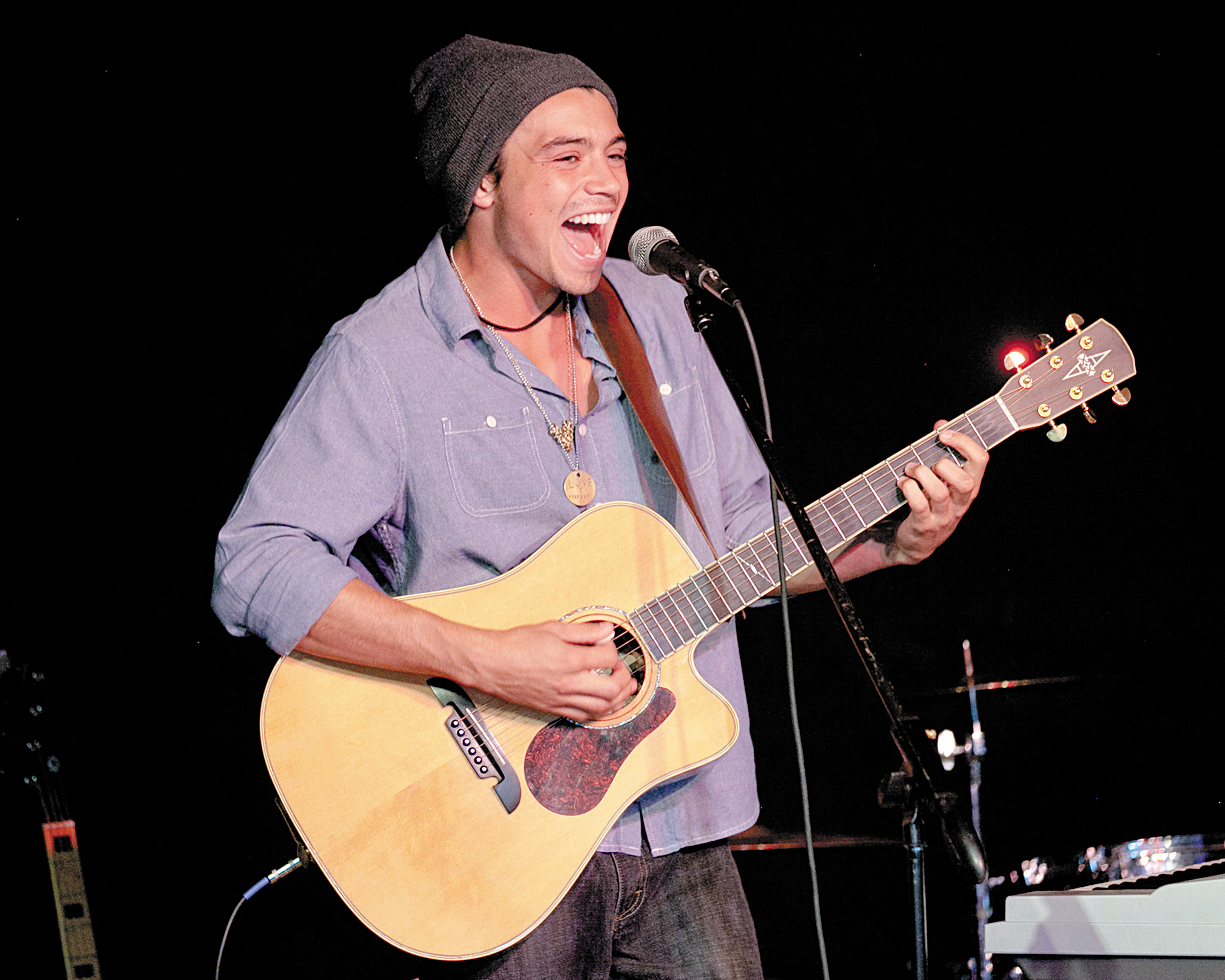 "Miguel Dakota, a semifinalist on the hit television series ""America's Got Talent"" performed a show at the Tri-Lakes Center for the Arts on Aug. 2. He had a good time interaction with the audience. Dakota is a 2010 Lewis-Palmer High School graduate. Photo by Michael Maddox"
