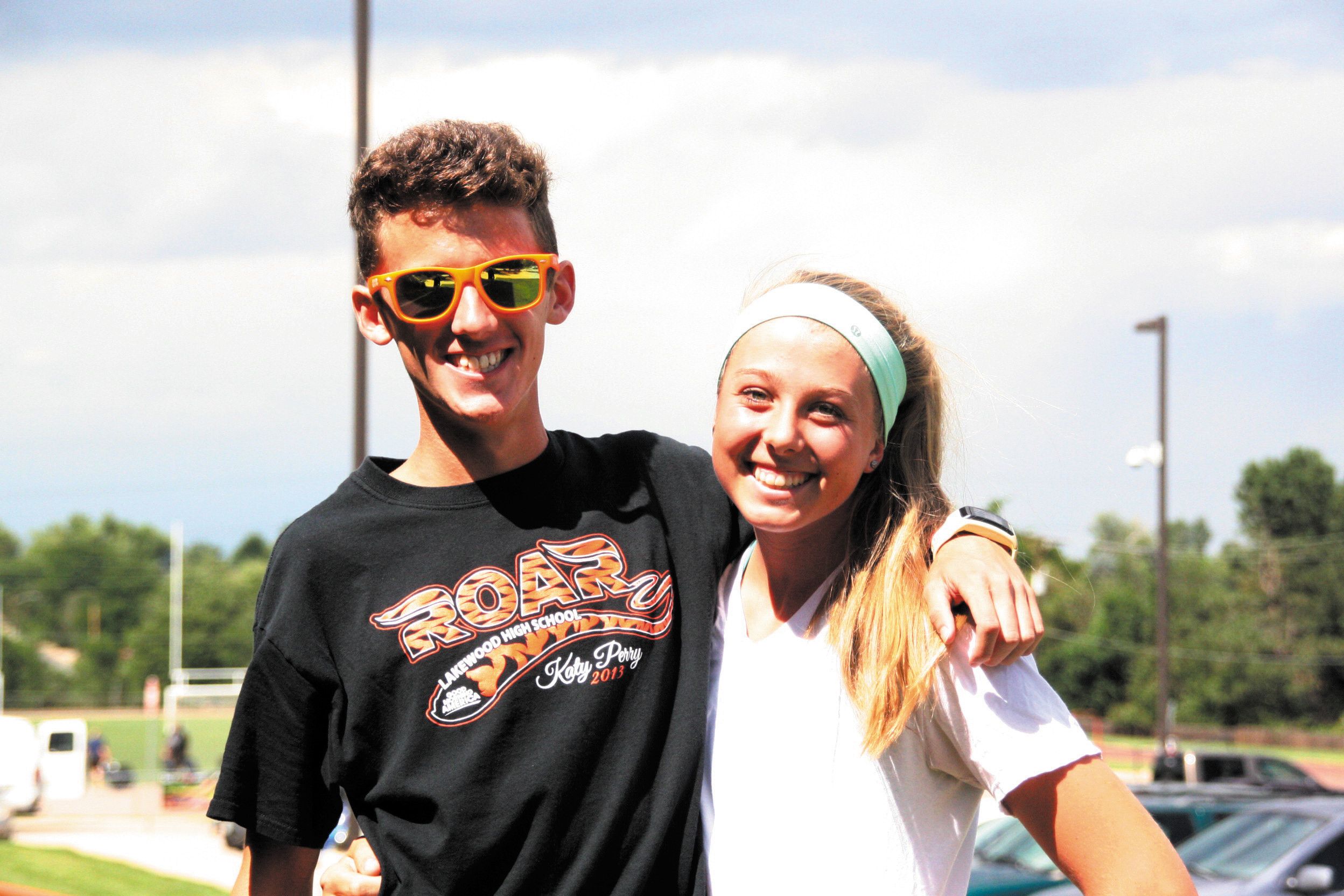 Lakewood cross-country teams are both looking good going into this season, especially the girls' team who returns the entire squad. Pictured here are team leaders Noah Riley and Olivia Hayden, who are also two of the best runners in Jeffco.