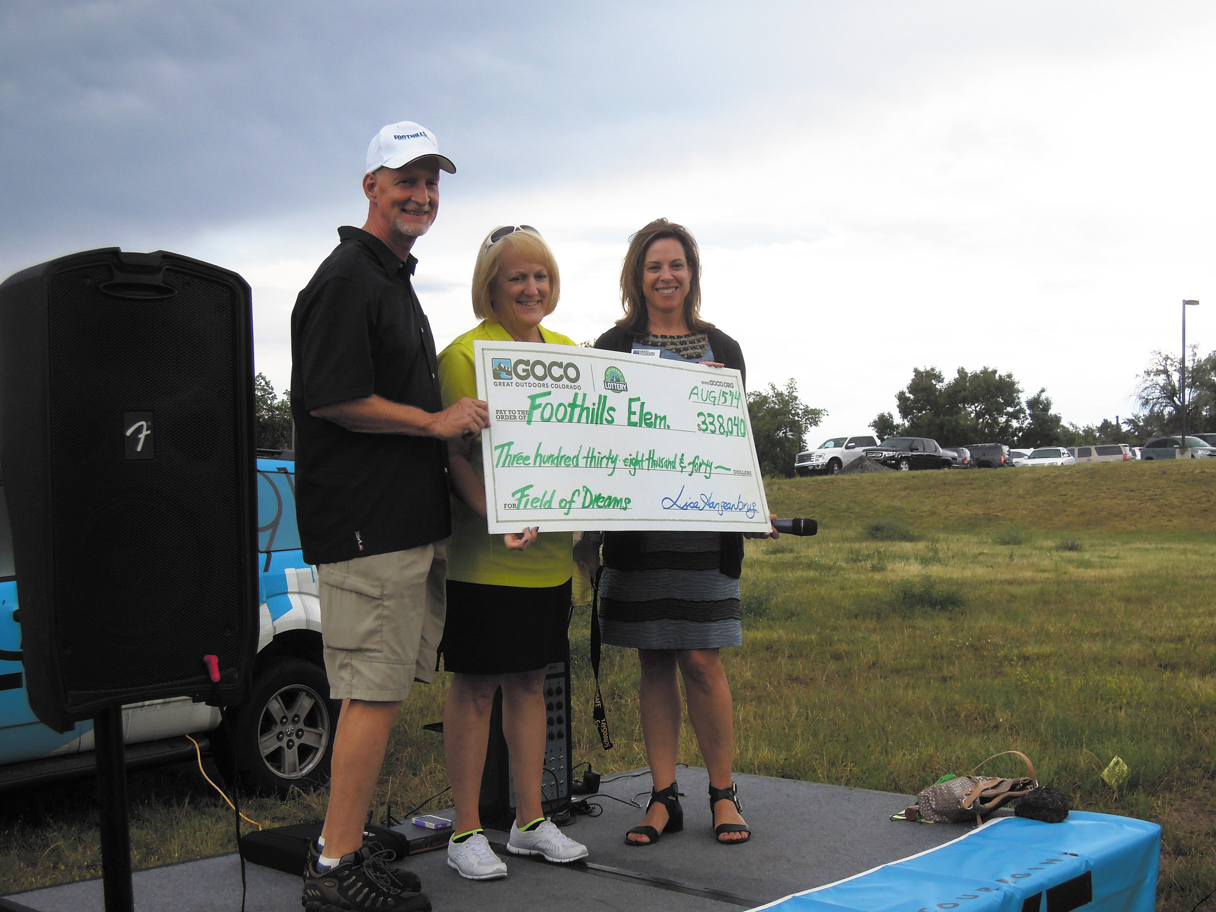 Field of Dreams organizers receive money from the Great Outdoors Colorado Grant for their project.