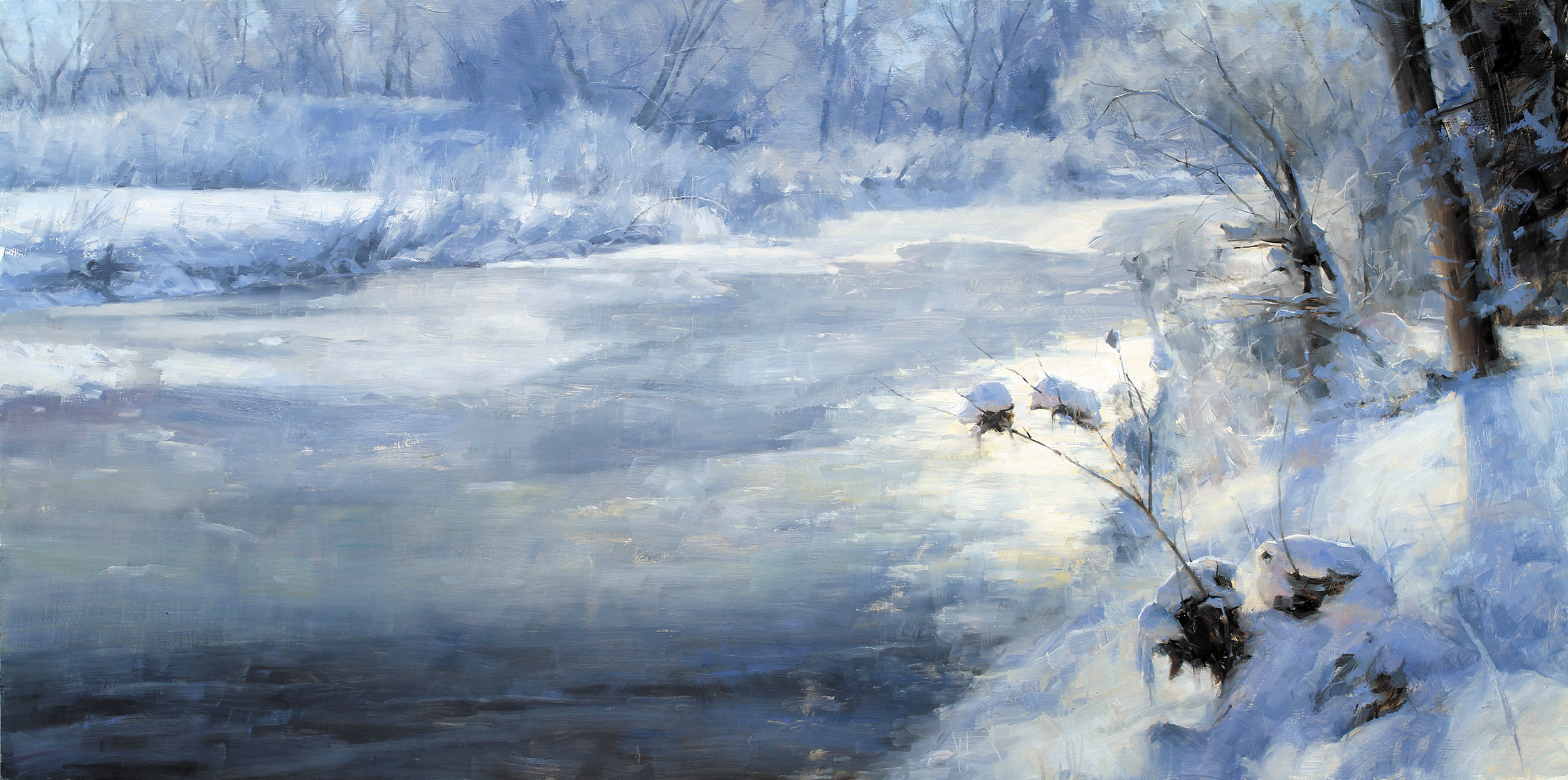 """January on the Poudre"" by David Santillanes is included in his show, ""Capturing Atmosphere,"" at the Evergreen Fine Arts Gallery."