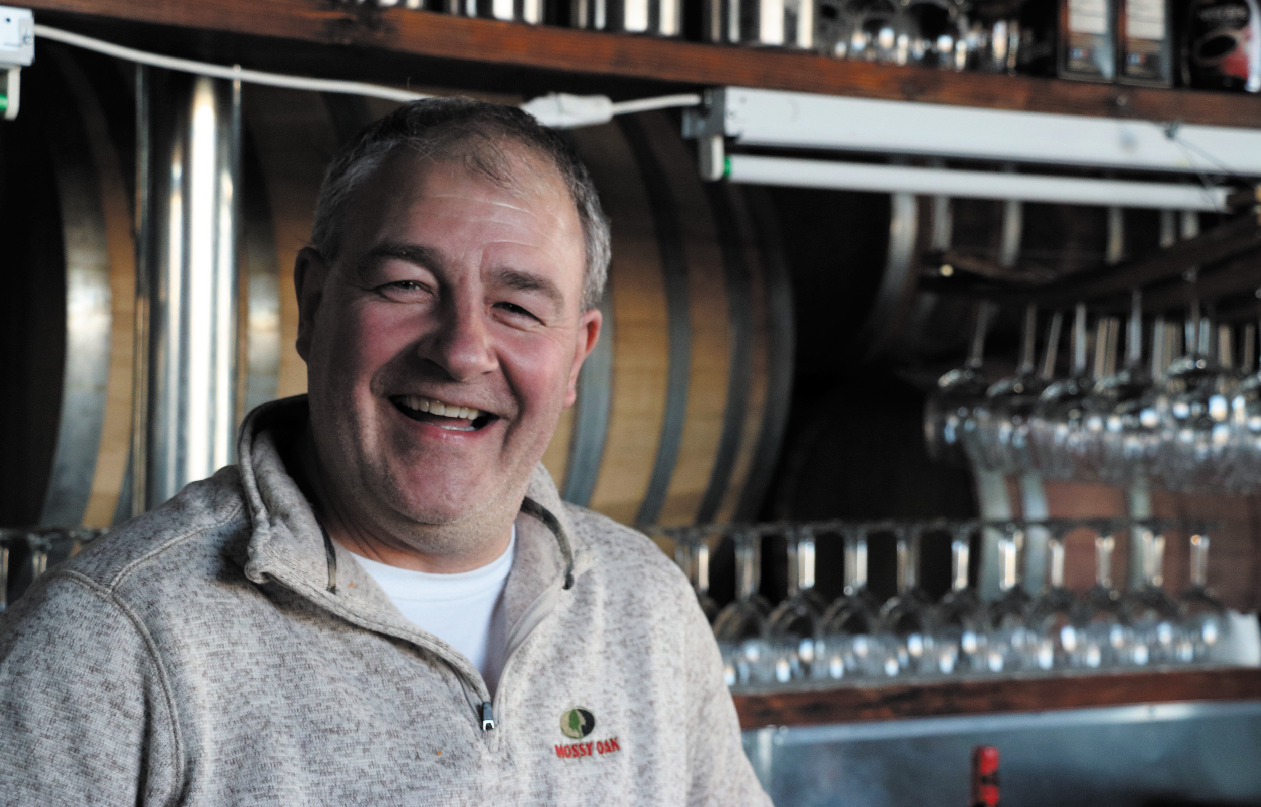 Gary Tassler, co-owner of Purgatory Cellars in Parker, says business has been booming since the winery opened in April 2015. Photos by Chris Michlewicz