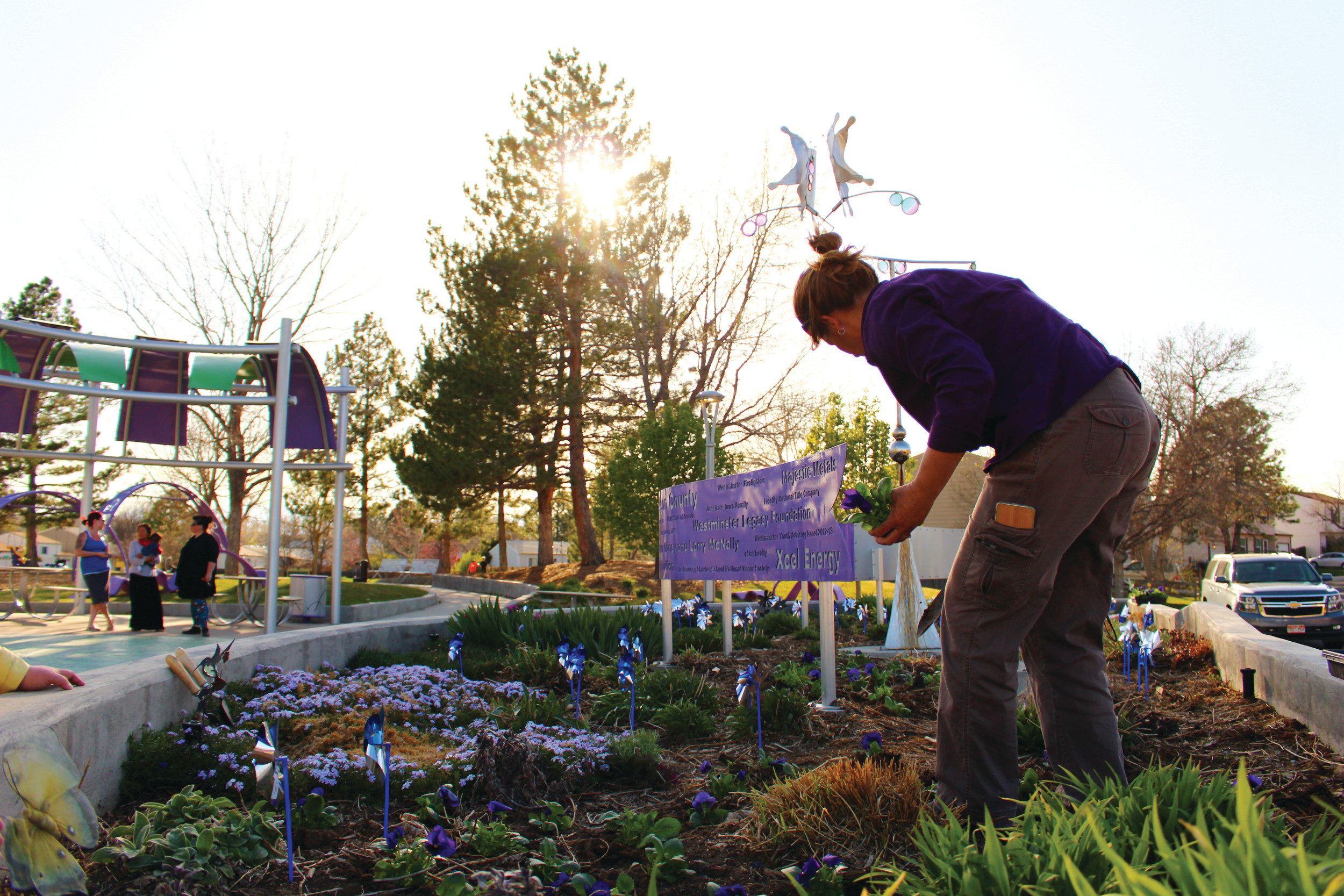 Pinwheel Garden promotes Child Abuse Awareness Month