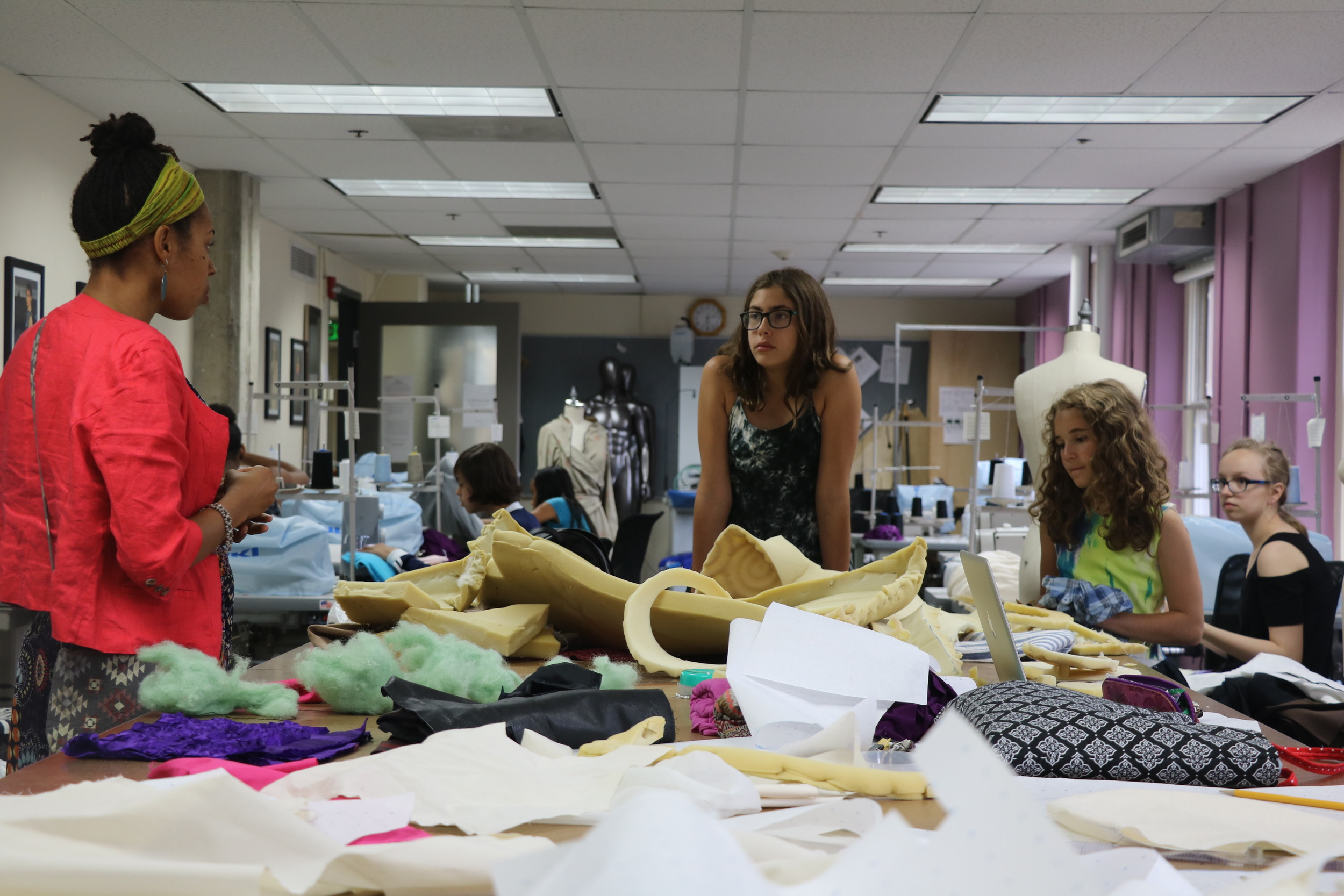 Sarah Naomi Jones Teaches Middle School Age Girls From All Over The Metro Area About Sewing